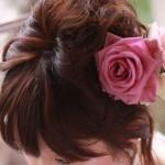 浴衣の髪型ショートの簡単アレンジ♪編み込みも?髪飾りのおすすめは?