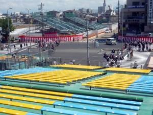 岸和田だんじり祭り 観覧席