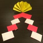 鏡餅飾りを折り紙で作ろう♪飾り扇の作り方
